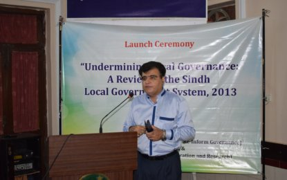 Dawn coverage of Sindh LG report launch